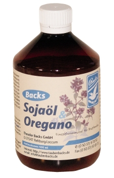 Backs Sojaöl + Oregano 500 ml