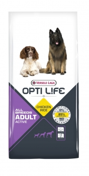 Opti Life Adult Active All Breeds Hundefutter 12,5 kg
