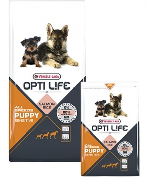 Opti Life Puppy Sensitive All Breeds Hundefutter 12,5 kg