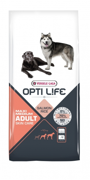 Opti Life Adult Skin Care Medium & Maxi Hundefutter 12,5 kg